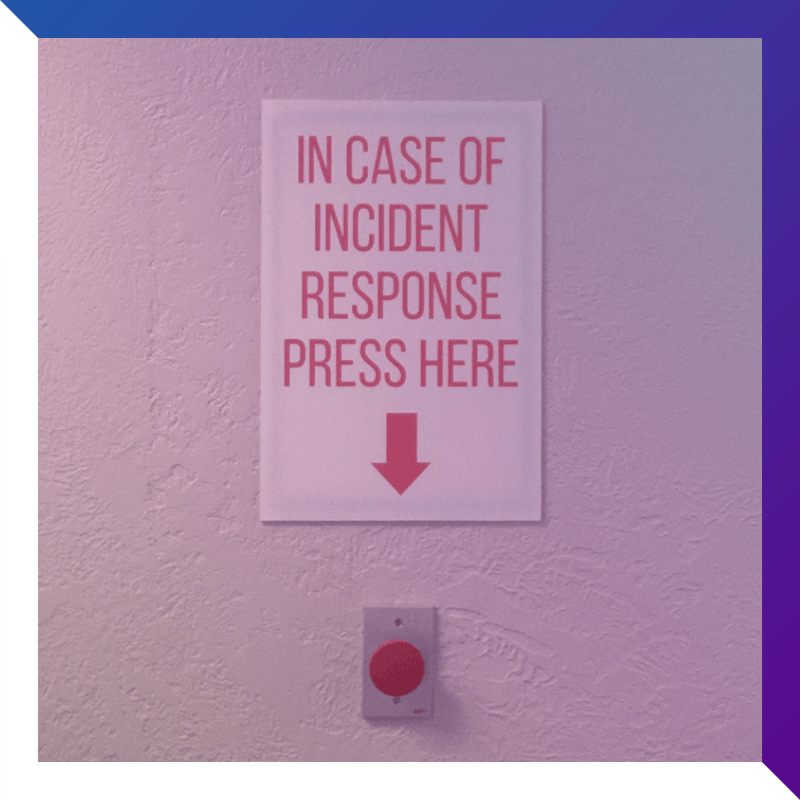 Incident response home page text square